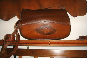 Borsa donna in cuoio,mod Double